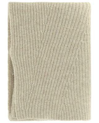 Écharpe en maille de laine recyclée côtelée GANNI