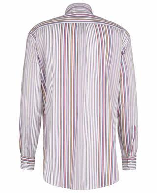 Comfort Fit multicolour stripe adorned cotton shirt ETRO