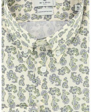 Paisley detail printed slim fit cotton shirt ETRO