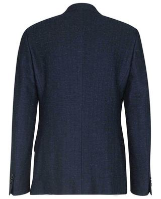 Herringbone blazer in wool and linen blend ETRO
