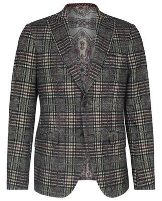 Soft glen check adorned jersey blazer ETRO