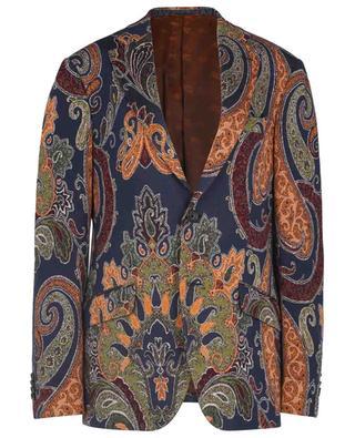 Blazer à boutonnage simple en jersey motif Paisley ETRO
