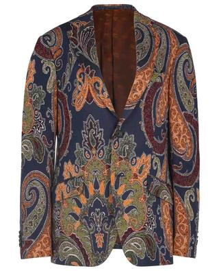 Single-breasted Paisley pattered jersey blazer ETRO