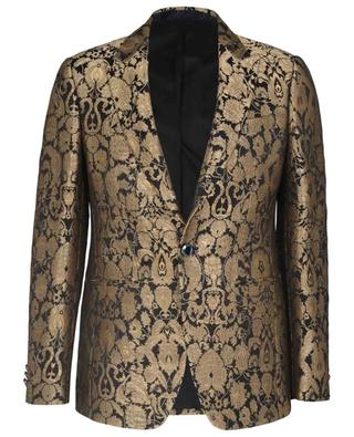 Black and gold tone slim fit blazer in brocade ETRO