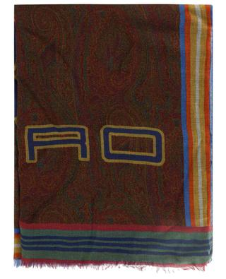 Modal- und Kaschmirschal mit Paisley- und Pegasus-Motiven Delhy ETRO