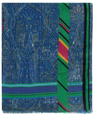 Schal aus Kaschmir und Seide mit Paisley-Print Delhy ETRO