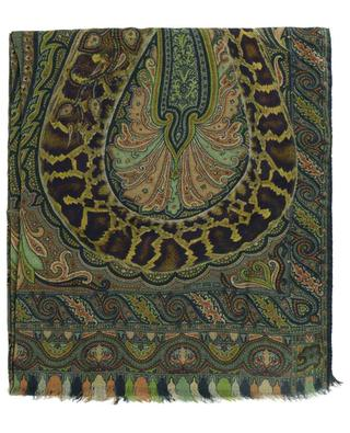 Delhy fine Paisley and python adorned scarf ETRO
