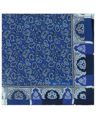 Einstecktuch mit Paisley-Detail-Print und Rahmen Bangalore ETRO