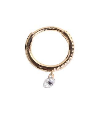 Piercing Circle 1 Diamond single yellow gold earring PERSEE