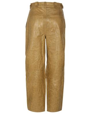 Jupiter high-rise carrot trousers in leather ULLA JOHNSON