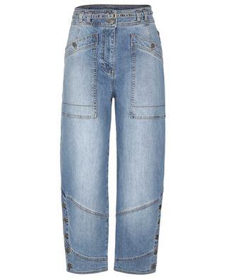 Harris Medium Wash peg leg utility jeans ULLA JOHNSON