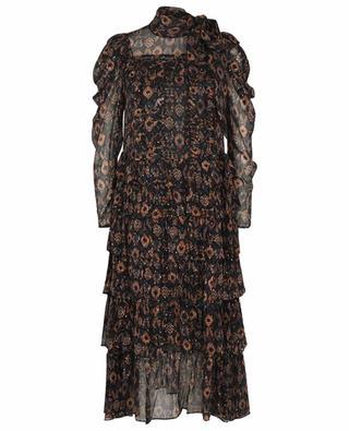 Azra Ikat patterned chiffon midi dress ULLA JOHNSON
