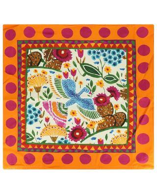 Housse de coussin en coton imprimé Colombo Bianco/Mexico LA DOUBLEJ