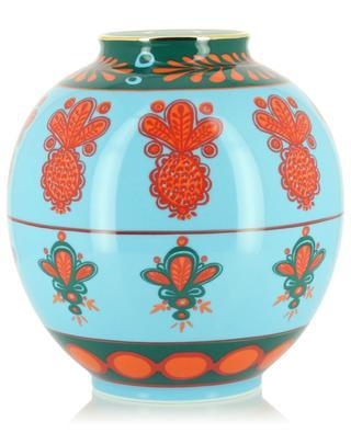 Vase aus Porzellan Bubble Vase Pineapple Azzuro LA DOUBLEJ