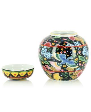 Boîte à thé en porcelaine Colombo Nero LA DOUBLEJ