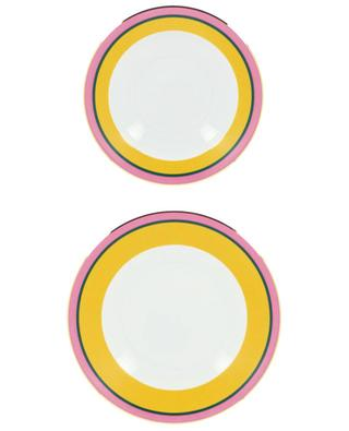 Set assiette creuse et assiette plate Rainbow Giallo LA DOUBLEJ