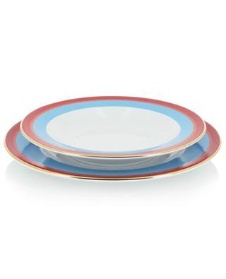 Set aus flachem und tiefem Teller Rainbow Azzurro LA DOUBLEJ