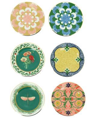 Set aus sechs Desserttellern Various Libellula LA DOUBLEJ