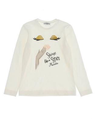 Shine Like A Star girls' cotton T-shirt MONNALISA