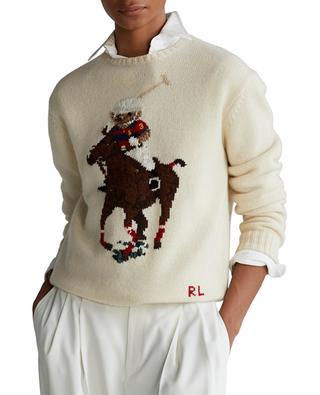 Rundhals-Pullover mit Polo Bear-Intarsie POLO RALPH LAUREN
