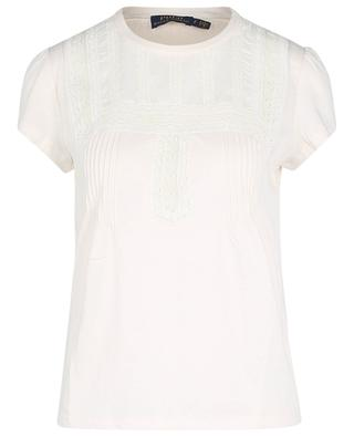 Lace and pin tuck bib adorned top POLO RALPH LAUREN