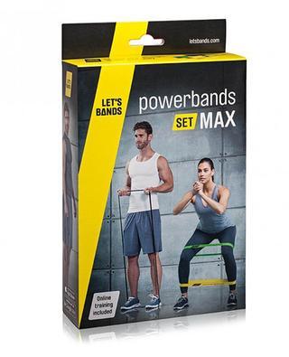 Set mit elastischen Fitness-Bändern Powerbands Max FITAGON