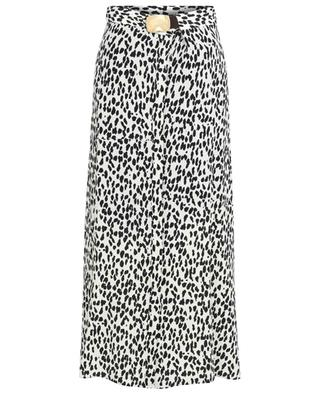 Jupe longue en soie imprimée léopard Wild Moment DOROTHEE SCHUMACHER