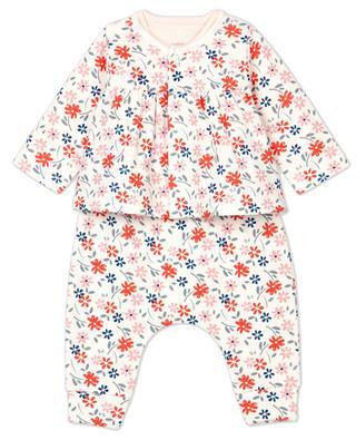 3-piece baby set in floral cotton PETIT BATEAU