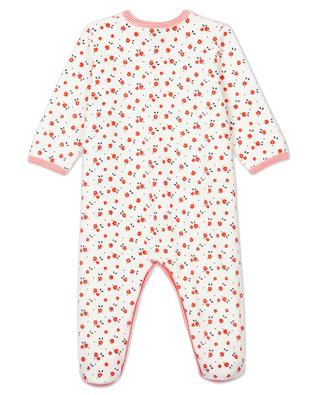 Babypyjama aus Samt mit Blumenmuster PETIT BATEAU