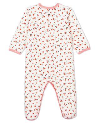 Velvet baby pyjamas with flower print PETIT BATEAU