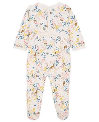 Bambi and flower printed fleece pyjamas PETIT BATEAU