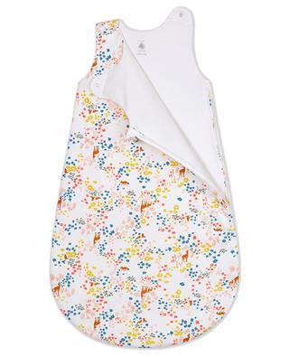 Bambi and flowers print sleeping bag PETIT BATEAU
