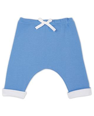 Cotton baby trousers with cuffs PETIT BATEAU