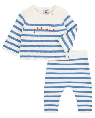 2-piece knitted set with sailor-stripe pattern PETIT BATEAU