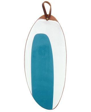 Langes ovales Tablett aus emaillierter Terrakotta SILVIA K