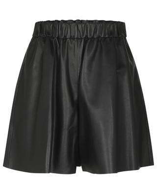 Weite Shorts aus Nappaleder mit hoher Taille RED VALENTINO