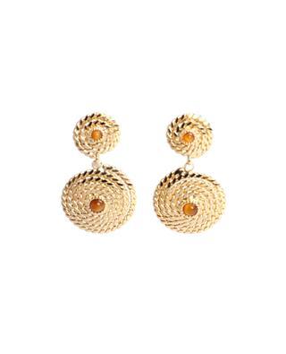 Boucles d'oreilles dorées avec pierres Onde Lucky Mini GAS BIJOUX