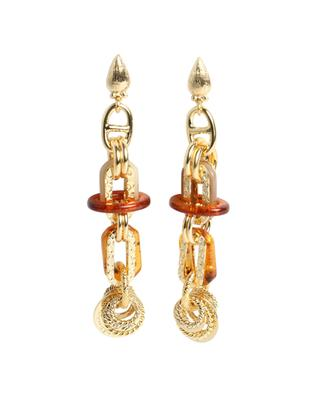 Boucles d'oreilles dorées longues Prato GM GAS BIJOUX
