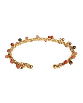 Orphée golden bangle with stones GAS BIJOUX