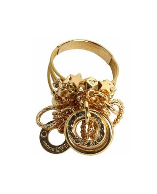 Grappe gold tone ring with pendants GAS BIJOUX