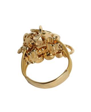 Goldener Ring mit Anhängern Grappe GAS BIJOUX