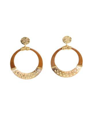 Boucles d'oreilles dorées avec acétate Lodge PM GAS BIJOUX