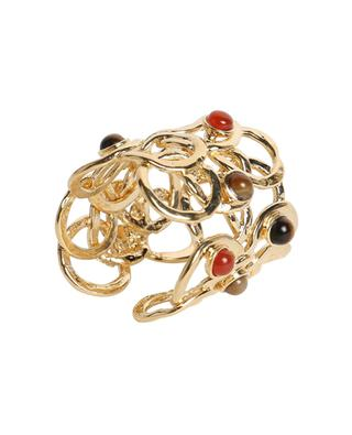 Olympie open golden ring with stones GAS BIJOUX
