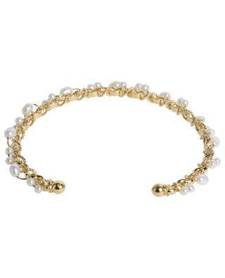 Orphée golden bangle with perles GAS BIJOUX