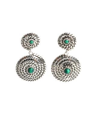 Boucles d'oreilles argentées avec pierres Onde Lucky Mini GAS BIJOUX