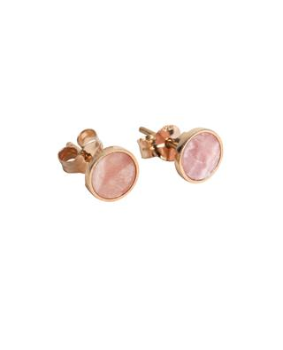 Ever pink gold and rhodochrosite stud earrings GINETTE NY
