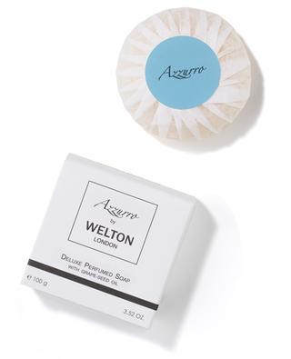 Savon parfumé de luxe à l'huile de pépins de raison Azzuro - 100 g WELTON LONDON