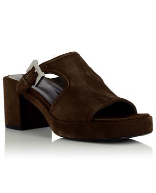 Melba Wool suede block heel mules BY FAR