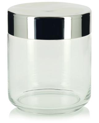 Julieta glass and steel kitchen jar - H12.3 ALESSI