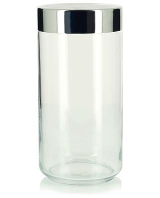 Küchendose aus Glas und Stahl Julieta - H21.6 ALESSI